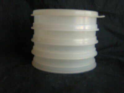 TUPPERWARE HAMBURGER PATTY FREEZER STACK STACKABLE CONTAINERS #882 Set of 4 +lid