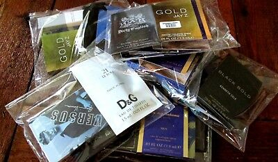 Grab Bag Assorted Lot of 6 Men's Pre-Packaged Cologne Samples Great For Gift's