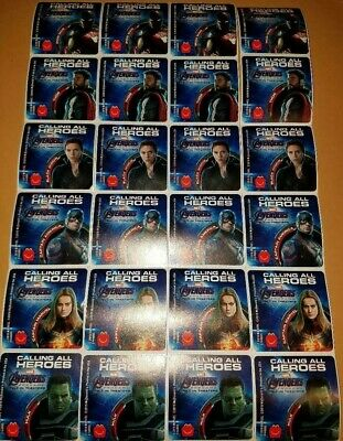 Mcdonalds 2019 Marvel Avengers Endgame Stickers 3 Sets Of 6 Stickers (18 Total)