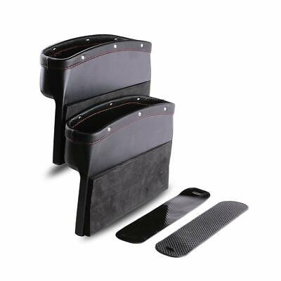Car Seat Pockets Pu Leather Car Console Side Organizer Seat Gap Filler Catch Cad