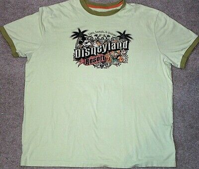 Disney Parks Distressed Mens T shirt Size XL Disneyland resort Est. 1955 Green