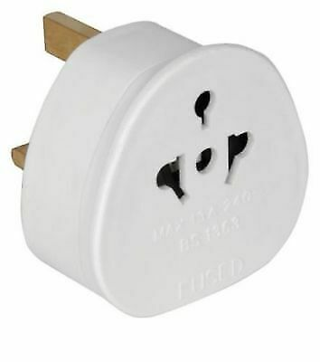 European USA / AUS 2 Pin to UK 3 Pin Plug Adaptor Euro EU Schuko Adapter Travel