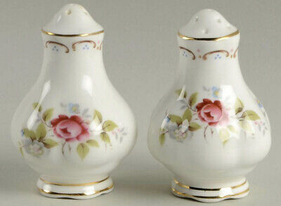 ROYAL ALBERT Bone China JUBILEE ROSE SALT & PEPPER SHAKER SET Made In England