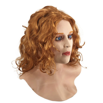Deluxe Scarlet Witch Mask Latex Overhead Role play Cos Fancy Doll Costume Female