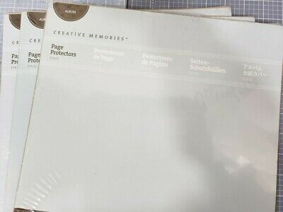 Creative Memories 12 X 12  NEW Lot 3 Pack Page Protectors 48 Sheets