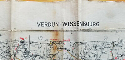 WWII Verdun Wissembourg Map War Office 1943 1st Edition Company C 84th Infantry