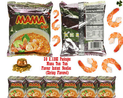 Mama Tom Yum Flavour Instant Noodles (30 2.12OZ) (Shrimp Flavored) Packages