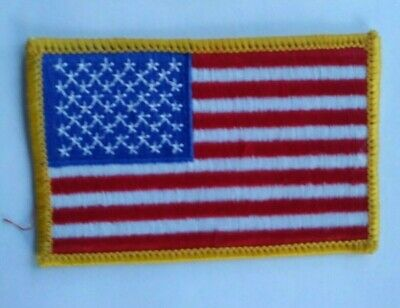 """U.S. FLAG Patch  3.5"""" wide, SEW On/ Patriotic, Proud to Wear!! Free Ship USA"""