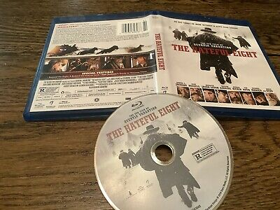 The Hateful Eight 2016) Blu-Ray Disc USED ACTION Quentin Tarantino FREE USA SHIP
