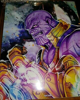 Bam Box Exclusive Marvel Endgame Thanos Infinity Guantlet  art numbered with COA