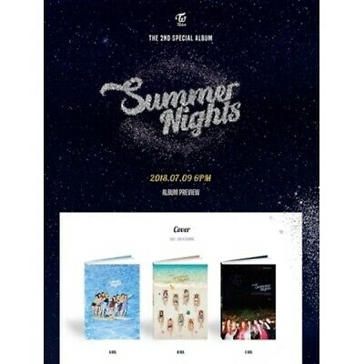 Twice-[Summer Nights]2nd Special Random CD+Poster/On+Book+Card+etc+PreOrder+Gift