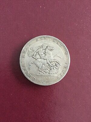 1820 British George III Silver Crown Coin #126