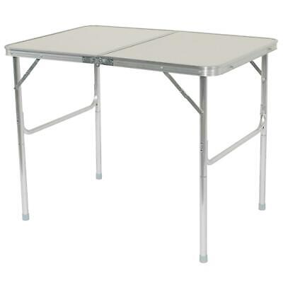 Portable Aluminum Alloy Folding Table Indoor Outdoor Camping Picnic Desk White