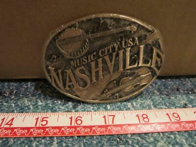 Nashville : Music City USA ~ Belt Buckle ~ ADM Tennessee ( Country Music )