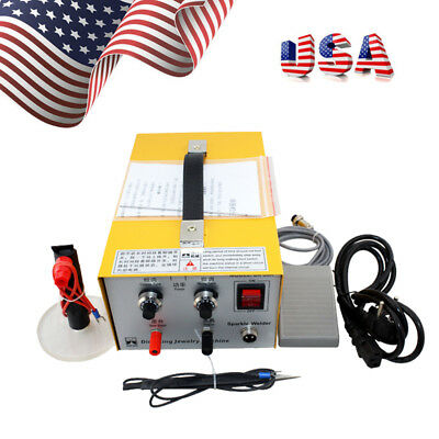 Pulse Sparkle Spot Welder Electric Jewelry Welding Machine Gold Silver USA Good