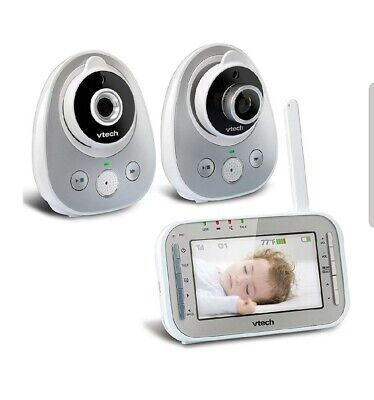 VTech VM342-2 ~ 2 Camera Video Baby Monitor 170-Degree Wide-Angle Lens, OPEN BOX