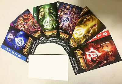 AVENGERS Infinity War Exclusive Tickets Premiere IMAX Iron man Thanos assemble
