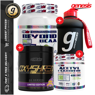 Ehp Labs Oxyshred + Beyond BCAA + Alcar + EHP Bottle - Ultimate EHP Stack!
