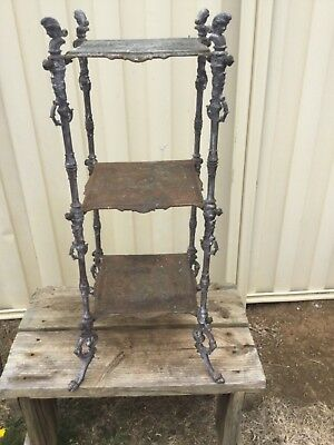 Antique  French Thee Tiered Cast Iron Pot / Display Stand