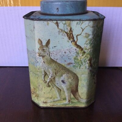 VINTAGE  embossed  BUSHELLS  tea of flavour tin