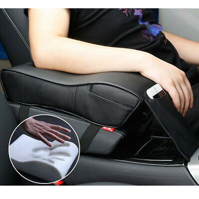 Leatherette Car SUV Console Box Cover Pad Armrest Cushion Memory Foam w/ Pouch