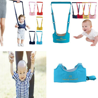 Safety Harness Baby Kid Toddler Learning Assistant Moon Walking Walker Reins SN