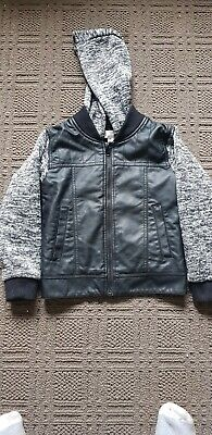 Pumpkin Patch Boys Faux Leather Jacket Size 7 New Without Tags
