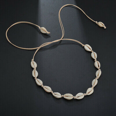 Beach Bohemian Sea Shell Pendant Chain Choker Necklace Fashion Jewelry For Girls