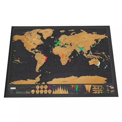World scratch off around the world poster map for travellers and education