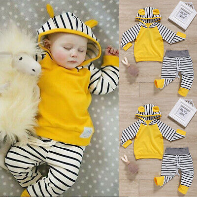 Baby Boy Girl Hooded Hoodies Jumpsuit Bodysuit Newborn Clothes Romper Outfits