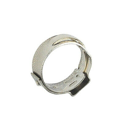 100 Set 1/2 Inch PEX Stainless Steel Clamp Cinch Rings Crimp Pinch Fitting Tool