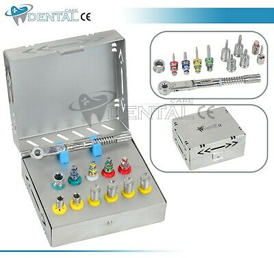 Dental Implant Surgical Torque Wrench Ratchet Full Set Drivers + Latch Adopter