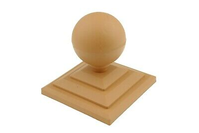 """Linic 2x Harvest Gold Sphere Fence Top Finial + 3"""" Fence Post Cap UK Made GT0026"""