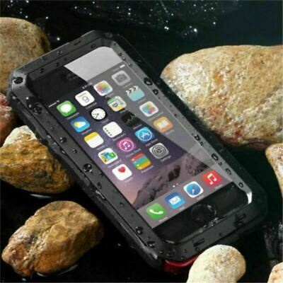 Aluminum Gorilla Glass Case Cover Waterproof Shockproof For iPhone 6s 7 8 Plus