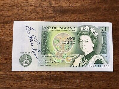 Bob Paisley Signed £1 Note Liverpool FC