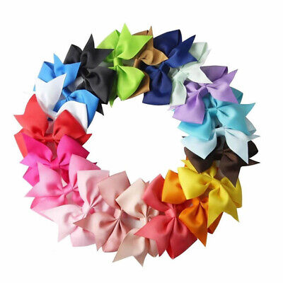 Colorful Big Bow Baby Girls Kid Hair Bow Clip Hairpins Grosgrain Ribbon Boutique