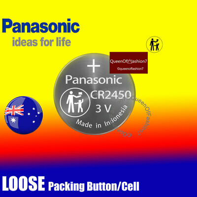2 x Panasonic LOOSE Packing CR2450 Battery Lithium Cell Button Batteries