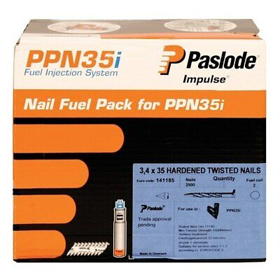 Paslode Twisted Electro Galvanised Nails 35mm (PPN35i / PPN35Ci) 141185