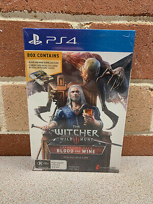 The Witcher 3 Wild Hunt Blood and Wine Box Set with Gwent Card PS4 NEW SEALED