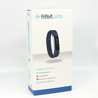 NEW Fitbit Alta Fitness Wristband Activity Tracker Black purple Large