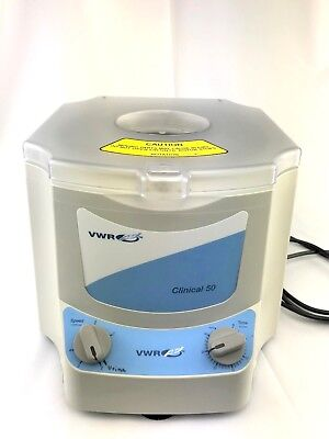 VWR Clinical 50 Centrifuge in Excellent Condition 82013-800 With 45° Rotor