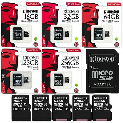 Kingston Micro SD Karte Canvas Select SDHC SDXC 16 - 256 GB Speicherkarte Card