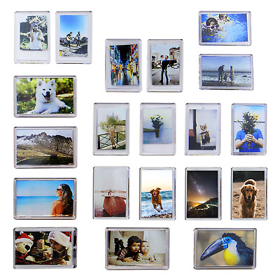 Pack of 20 Mini Photo Frame Magnets | Fridge Magnet Photo Holders | M&W