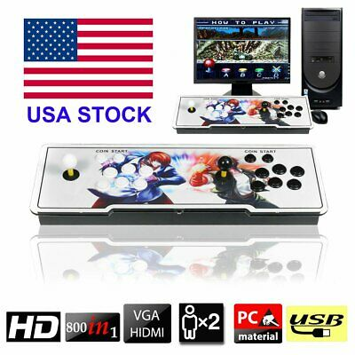 800 Pandora's Box 4s Double Stick Retro Arcade Console with Video Audio Games BT