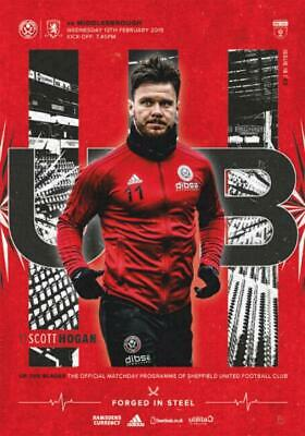* 2018/19 - Sheffield United Home Programmes - Choose From List *