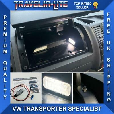 VW T5 Transporter LED glove box  Light Unit Upgrade & Wiring Kit Brand New 10-15