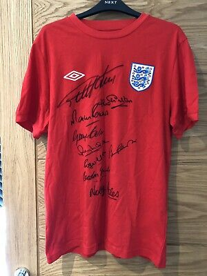 England 1966 Shirt Signed By 9