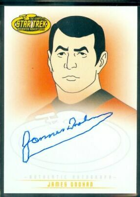 Star Trek Complete Animated (A6) James Doohan as Lt Comdr Scott Autograph Card