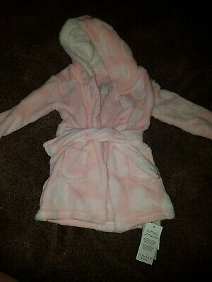 Brand New Baby Girls Size 12-18 Month Dressing Gown