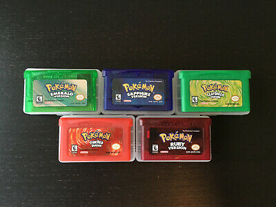 Pokemon Emerald+Sapphire+Ruby+FireRed+LeafGreen (Game Boy Advance) DS 5 Game LOT